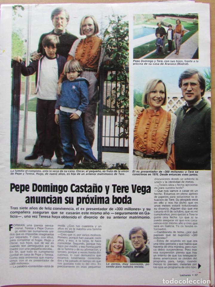 RECORTE REVISTA N.º 1624 1983 PEPE DOMINGO CASTAÑO (Coleccionismo - Revistas y Periódicos Modernos (a partir de 1.940) - Revista Hola)