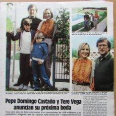 Coleccionismo de Revista Hola: RECORTE REVISTA N.º 1624 1983 PEPE DOMINGO CASTAÑO. Lote 235351730