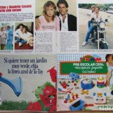 Coleccionismo de Revista Hola: RECORTE REVISTA N.º 1624 1983 JIMMY VAN PATTEN Y NICOLETTE SAVALAS. Lote 235352260