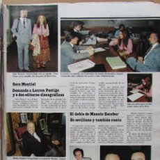 Coleccionismo de Revista Hola: RECORTE REVISTA N.º 1624 1983 SARA MONTIEL. MANOLO ESCOBAR, PAOLA DOMINGUIN, LOLA FORNER. Lote 235352595