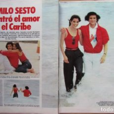 Coleccionismo de Revista Hola: RECORTE REVISTA N.º 1624 1983 CAMILO SESTO Y LISSETTE RODRÍGUEZ 5 PGS. Lote 235353295