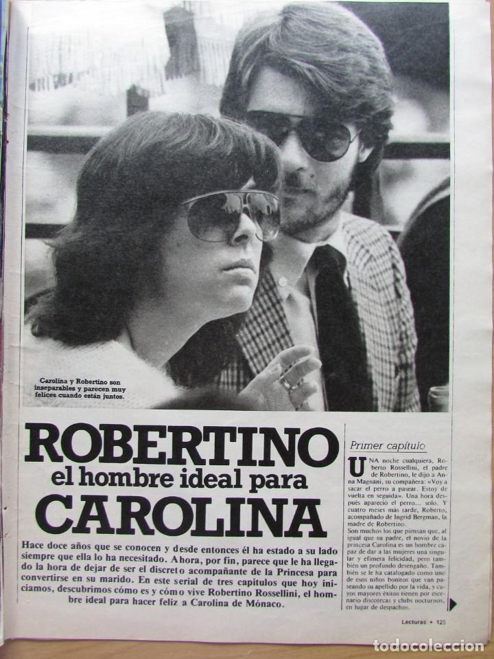 RECORTE REVISTA N.º 1624 1983 CAROLINA DE MÓNACO, ROBERTINO ROSSELLINI 5 PGS (Coleccionismo - Revistas y Periódicos Modernos (a partir de 1.940) - Revista Hola)