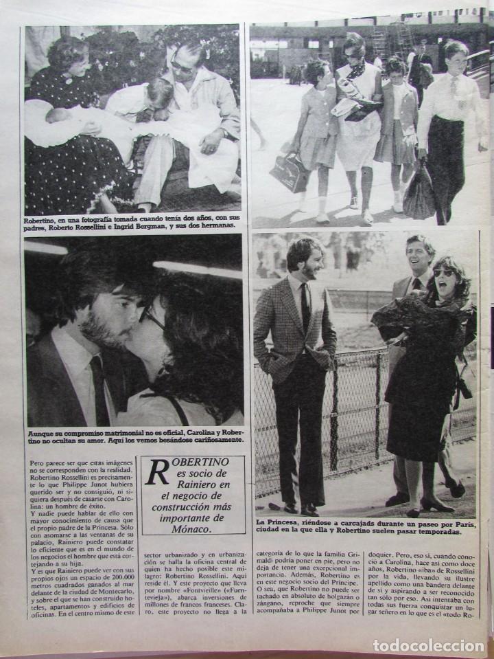 Coleccionismo de Revista Hola: RECORTE REVISTA N.º 1624 1983 CAROLINA DE MÓNACO, ROBERTINO ROSSELLINI 5 PGS - Foto 2 - 235353425