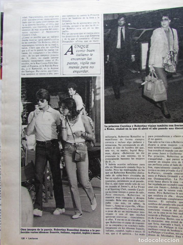 Coleccionismo de Revista Hola: RECORTE REVISTA N.º 1624 1983 CAROLINA DE MÓNACO, ROBERTINO ROSSELLINI 5 PGS - Foto 3 - 235353425