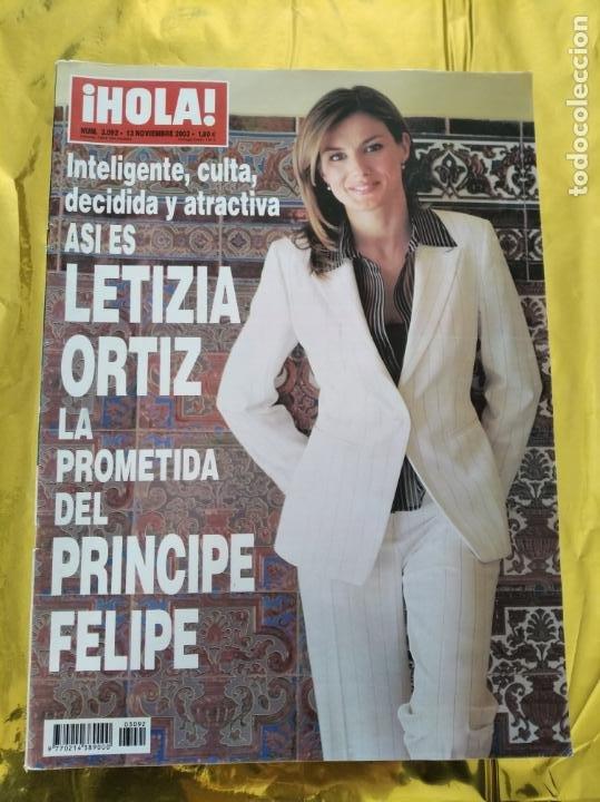 HOLA - Nº 3092 - NOVIEMBRE 2003 - LETIZIA ORTIZ LA PROMETIDA DEL PRINCIPE FELIPE - (VER SUMARIO....) (Coleccionismo - Revistas y Periódicos Modernos (a partir de 1.940) - Revista Hola)
