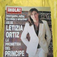 Coleccionismo de Revista Hola: HOLA - Nº 3092 - NOVIEMBRE 2003 - LETIZIA ORTIZ LA PROMETIDA DEL PRINCIPE FELIPE - (VER SUMARIO....). Lote 235567010