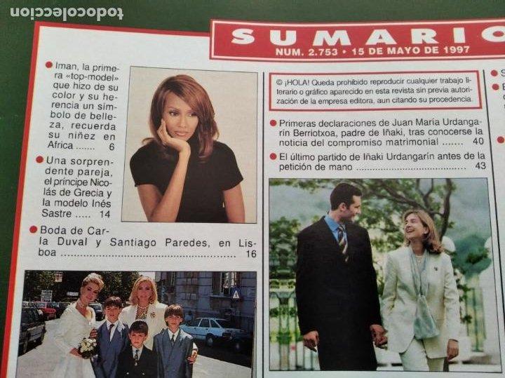 Coleccionismo de Revista Hola: HOLA - Nº 2753 - MAYO 1997 - PETICION DE MANO DE LA INFANTA CRISTINA - (VER SUMARIO....) - Foto 2 - 235567395