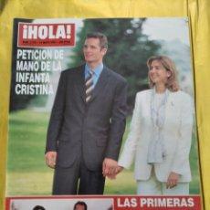 Coleccionismo de Revista Hola: HOLA - Nº 2753 - MAYO 1997 - PETICION DE MANO DE LA INFANTA CRISTINA - (VER SUMARIO....). Lote 235567395