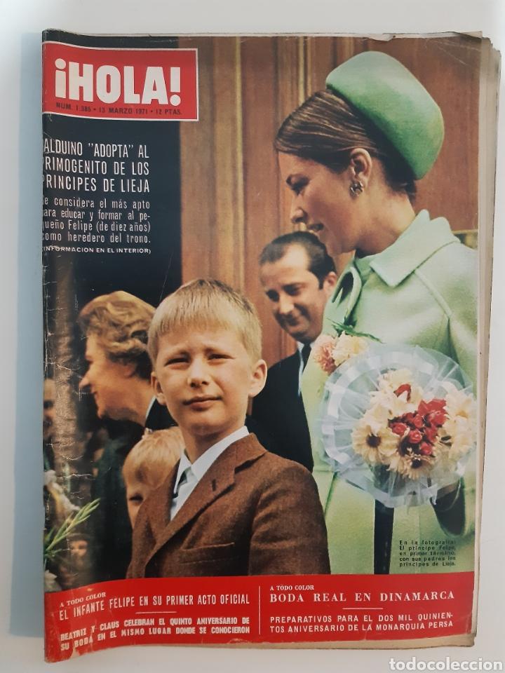 HOLA NUM 1385 13 DE MARZO 1971 (Coleccionismo - Revistas y Periódicos Modernos (a partir de 1.940) - Revista Hola)