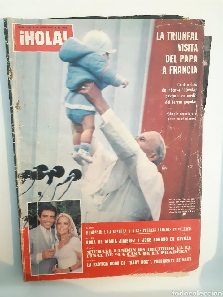 HOLA N° 1868 14/6/1980 PAPA (Coleccionismo - Revistas y Periódicos Modernos (a partir de 1.940) - Revista Hola)