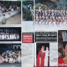 Collectionnisme de Magazine Hola: RECORTE REVISTA HOLA 1987 SONSOLES ARTIGAS. MISS ESPAÑA 5 PGS. Lote 237300485
