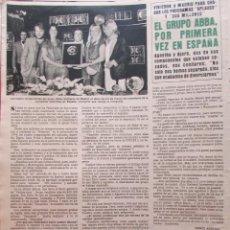 Colecionismo da Revista Hola: RECORTE REVISTA HOLA N.º 1815 1979 GRUPO ABBA. Lote 237316025