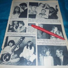 Coleccionismo de Revista Hola: RECORTE : URSULA ANDRESS Y JEAN-PAUL BELMONDO. GEORGE HARRISON. HOLA, FBRO 1968 (#). Lote 239543820