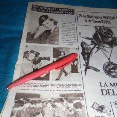 Collectionnisme de Magazine Hola: RECORTE : ROCIO DURCAL, MADRINA DE LOS PARACAIDISTAS. HOLA, DCMBRE 1963(#). Lote 239545050