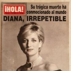 Collectionnisme de Magazine Hola: REVISTA HOLA 11 SEPTIEMBRE 1997 - DIANA,IRREPETIBLE -PRINCESA DIANA - LADY DI. Lote 240467380