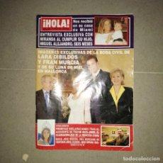 Collectionnisme de Magazine Hola: 2796 AÑO 1998 LARA DIBILDOS LEONARDO DI CAPRIO DUQUE PALMA MALLORCA MICHAEL DOUGLAS LARA DIBILDOS. Lote 240681865