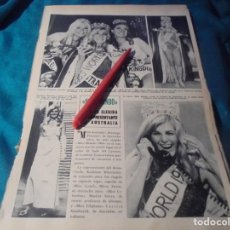Collezionismo di Rivista Hola: RECORTE : MISS AUSTRALIA, ELEGIDA MISS MUNDO. HOLA, FBRO 1966(#). Lote 241233495