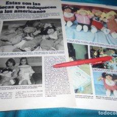 Collezionismo di Rivista Hola: RECORTE : LAS MUÑECAS REPOLLO. LECTURAS, ENERO 1984(#). Lote 241685535