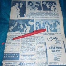 Collezionismo di Rivista Hola: RECORTE : SARA MONTIEL SE CASA CON ABOGADO BILBAINO. HOLA, NVBRE 1963(#). Lote 242943660