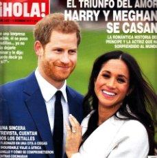 Coleccionismo de Revista Hola: REVISTA HOLA NUMERO 3827 HARRY Y MEGHAN SE CASAN. Lote 243307635