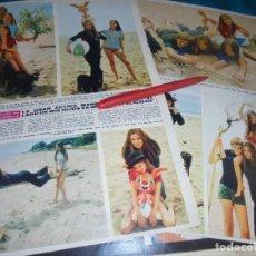 Coleccionismo de Revista Hola: RECORTE : LUCIA BOSE CON SUS HIJOS. MIGUEL BOSÉ. HOLA, ABRIL 1970(#). Lote 243353295