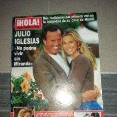 Coleccionismo de Revista Hola: AÑO 1996 2731 JULIO IGLESIAS CARMEN MARTÍNEZ BODIU CLAUDIA SCHIFFER CAMILO SESTO PALOMA LAGO. Lote 243485375