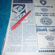 Coleccionismo de Revista Hola: RECORTE : ANN MAGRET. HOLA, NVMBRE 1963(#). Lote 243568025