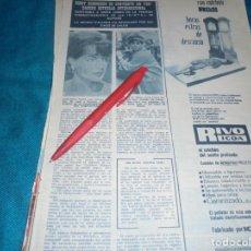 Coleccionismo de Revista Hola: RECORTE : ROMY SCHNEIDER. HOLA, NVMBRE 1963(#). Lote 243568270
