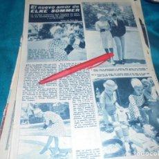 Coleccionismo de Revista Hola: RECORTE : EL NUEVO AMOR DE ELKE SOMMER. HOLA, NVMBRE 1963(#). Lote 243568390