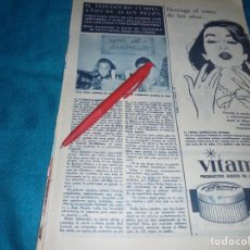 Coleccionismo de Revista Hola: RECORTE : ALAIN DELON Y JANE FONDA, CELEBRAN CUMPLEAÑOS. HOLA, NVMBRE 1963(#). Lote 243568545
