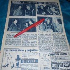 Coleccionismo de Revista Hola: RECORTE : DALI Y LA DUQUESA DE ALBA, EN RECEPCION A CENICIENTA 1963. HOLA, NVMBRE 1963(#). Lote 243568715