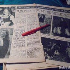 Coleccionismo de Revista Hola: RECORTE : MISS FRANCIA 1967, ES UNA GRANJERA NORMANDA. HOLA, ENERO 1967(#). Lote 243765115