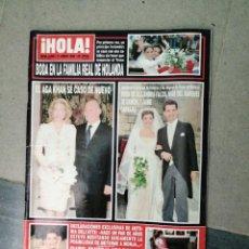 Coleccionismo de Revista Hola: AÑO 1998 2809 SAMUEL FLORES PENELOPE CRUZ PALOMO LINARES MARIA BESORA MARIA REYES ISABEL PANTOJA. Lote 243839565