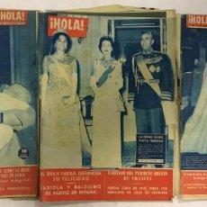 "Coleccionismo de Revista Hola: PACK DE 5 EJEMPLARES DE LA REVISTA ""HOLA"". Lote 243995975"