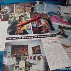 Coleccionismo de Revista Hola: RECORTE : CARMEN SEVILLA Y SU HIJO AUGUSTO. HOLA, DCMBRE 1970(#). Lote 244478285