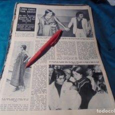 Coleccionismo de Revista Hola: RECORTE : ROMINA POWER Y AL BANO, PADRES. HOLA, DCMBRE 1970(#). Lote 244478440