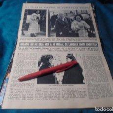 Coleccionismo de Revista Hola: RECORTE : LINDA CHRISTIAN Y ROMINA POWER. LA VIUDA DE SAKURNO. HOLA, DCMBRE 1970(#). Lote 244478540