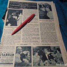 Coleccionismo de Revista Hola: RECORTE : ROMY SCHNEIDER Y ALAIN DELON. HOLA, FBRO 1963(#). Lote 244479360