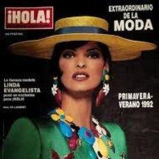 Coleccionismo de Revista Hola: REVISTA HOLA-NUMERO EXTRAORDINARIO DE LA MODA-LINDA EVANGELISTA-PRIMAVERA-VERANO 1992. Lote 244624380