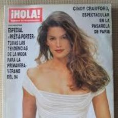 Coleccionismo de Revista Hola: REVISTA HOLA-NUM. EXTRAORDINARIO DE LA MODA-ESPECIAL PRET A PORTER-CINDY CRAWFORD- PRIMAV- VERANO 94. Lote 244624610