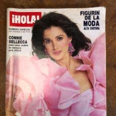Coleccionismo de Revista Hola: REVISTA HOLA ESPECIAL MODA PRIMAVERA VERANO 1988. CONNIE SELLECCA.. Lote 244694945
