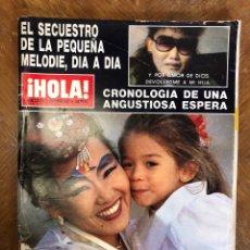 Coleccionismo de Revista Hola: REVISTA HOLA 2258. AÑO 1987. SECUESTRO MELODIE NAKACHIAN. KIMERA.. Lote 244695375