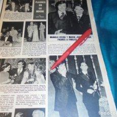 Coleccionismo de Revista Hola: RECORTE : MARIA JOSE CANTUDO Y MANOLO OTERO, ESPERAN HIJO. HOLA, JUNIO 1978(#). Lote 244711240