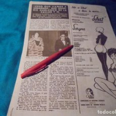 Coleccionismo de Revista Hola: RECORTE : MARIA CALLAS. HOLA, AGTO 1963 (#). Lote 244725605
