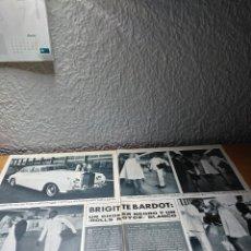 Coleccionismo de Revista Hola: BRIGUITTE BARDOT UN CHOFER NEGRO UN ROLLS ROYCE BLANCO . HOLA 30.9.67. Lote 244725865