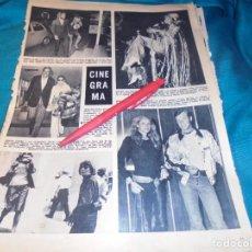 Coleccionismo de Revista Hola: RECORTE : URSULA ANDRESS CON JEAN-PAUL BELMONDO. RINGO STARR. HOLA, ABRIL 1971(#). Lote 244729340