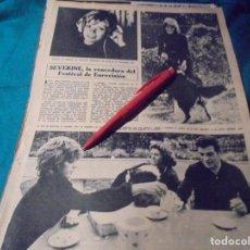 Coleccionismo de Revista Hola: RECORTE : SEVERINE, VENCEDORA DEL FESTIVAL DE EUROVISION. HOLA, ABRIL 1971(#). Lote 244729875