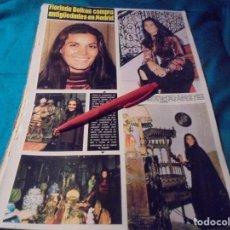 Coleccionismo de Revista Hola: RECORTE : FLORINDA BOLKAN, EN MADRID. HOLA, ABRIL 1971(#). Lote 244729950