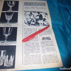 Coleccionismo de Revista Hola: RECORTE : LIZ TAYLOR, VACACIONES EN CAPRI. HOLA, MAYO 1972 (#). Lote 244992160