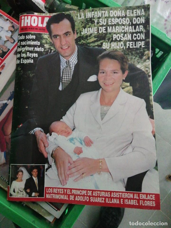 AÑO 1998 2816 ADOLFO SUÁREZ JAIME MARICHALAR REY JUAN CARLOS DANIEL DUCRUET EUGENIA MARTÍNEZ IRUJO (Coleccionismo - Revistas y Periódicos Modernos (a partir de 1.940) - Revista Hola)